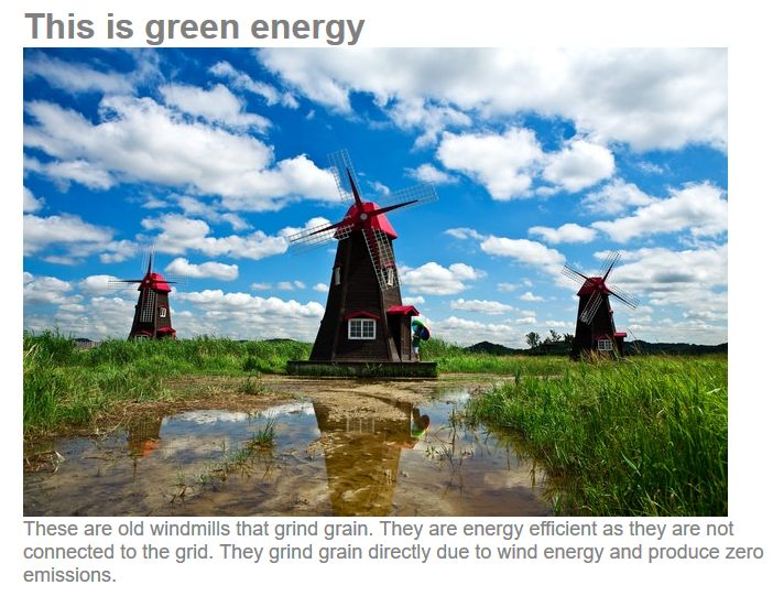 This is green energy